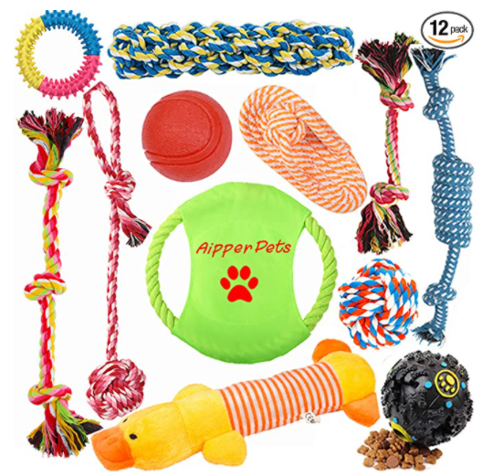 puppy chew toys 12 pack bundle