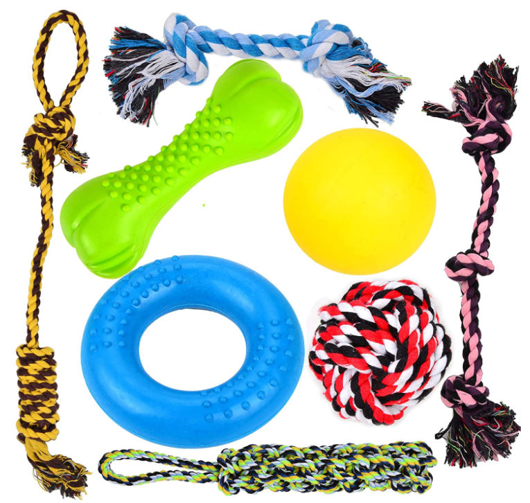 8pk puppy chewing toys